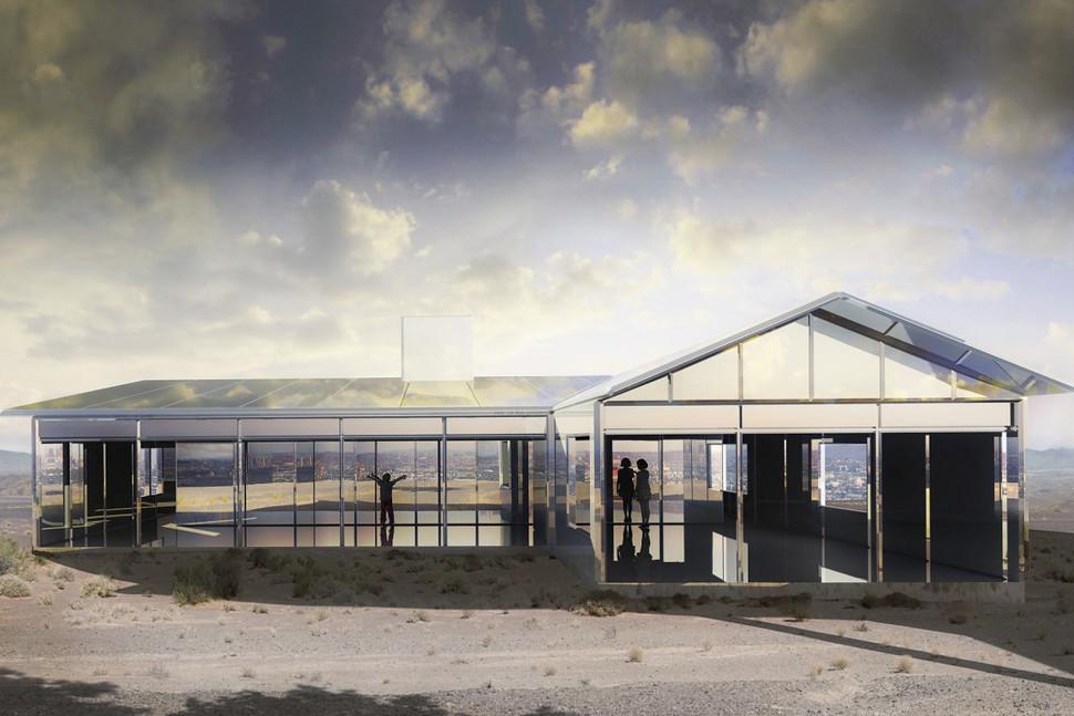 خانهای پوشیده شده با آینه؛ یک اثر هنری با بازتابی از طبیعت