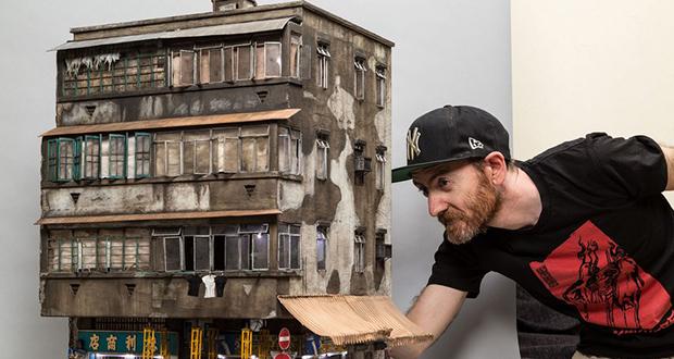 تصاویر/ ساختمانهای شهری مینیاتوری که با جزئیات بالا ساخته شدهاند
