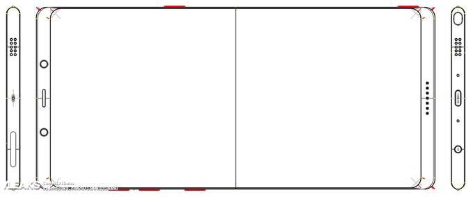 برخی از مشخصات سخت افزاری گلکسی نوت 8 به همراه تصویری شماتیک از طراحی اولیه گلکسی نوت 8 در یک وبلاگ چینی منتشر شده است که نشان از آغاز طراحی آن دارد.