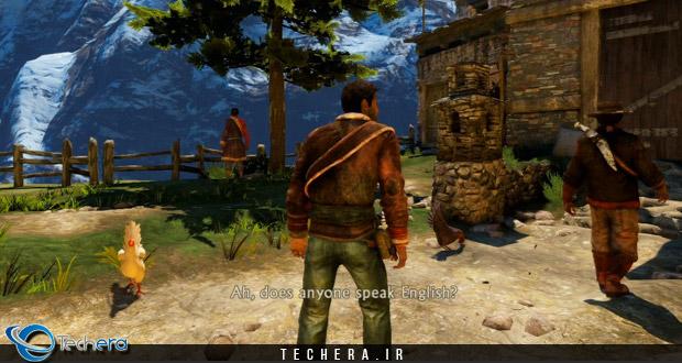 نمایی از بازی Uncharted 2 برای کنسول پلی استیشن 3