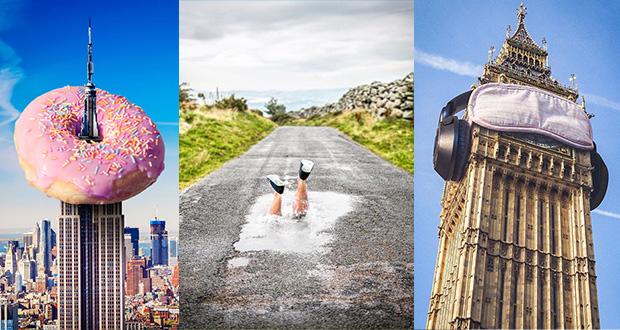 تلفیق فتوشاپ با حس شوخ طبعی و خلاقیت و خلق تصاویری جالب