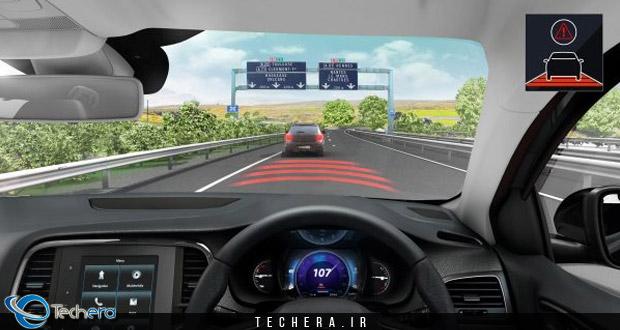 سیستم حفظ فاصله طولی مناسب با خودروی جلویی در رنو مگان مدل سال 2017 میلادی