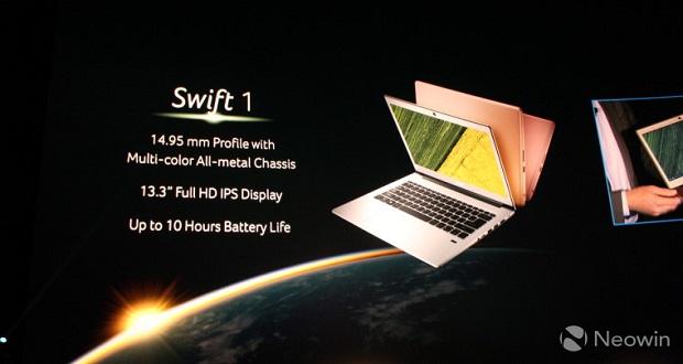کمپانی ایسر از لپ تاپ های ویندوز 10 جدید خود در رویداد نیویورک رونمایی کرد