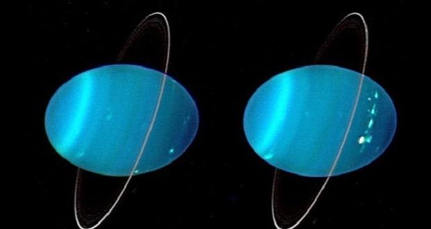 عکس های جدید تلسکوپ هابل شفق های خیره کننده اورانوس را نشان می دهد