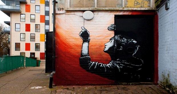 یک هنرمند اسپانیایی گرافیتی های شهری را به تصاویر متحرک گیف تبدیل کرده است