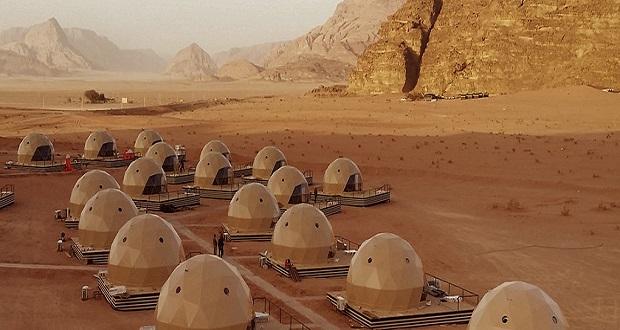گردشگران اردن با اقامتگاه های گنبدی محیط مریخ را تجربه خواهند کرد