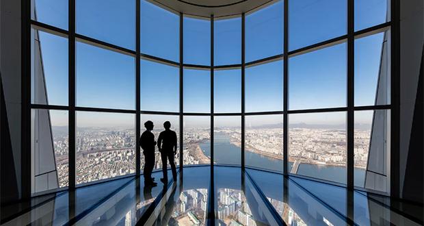 سریعترین آسانسور جهان در برج نیم کیلومتری لاته کره جنوبی