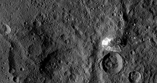 آتشفشان یخی مرموز سیاره کوتوله سرس به آرامی ناپدید می شود