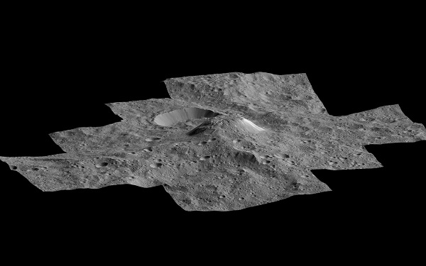 دانشمندان پیش از این با توجه به مشاهدات از راه دور، دریافته بودند، سیاره کوتوله سرس دارای مقادیری آب است. حال، مشاهدات جدید کاوشگر داون ناسا نشان می دهد، نواحی قطبی این سیاره از 30 درصد آب تشکیل شده است، چیزی که می تواند، توضیح منطقی برای مشاهده نقاط روشن مرموز یا همان آتشفشان یخی باشد. یکی از نقاط روشن مرموز یا همان آتشفشان یخی آهونا مونس نام دارد که به عقیده دانشمندان در دوران اولیه تشکیل سیاره کوتوله سرس دارای آبی مایع و شور بوده است