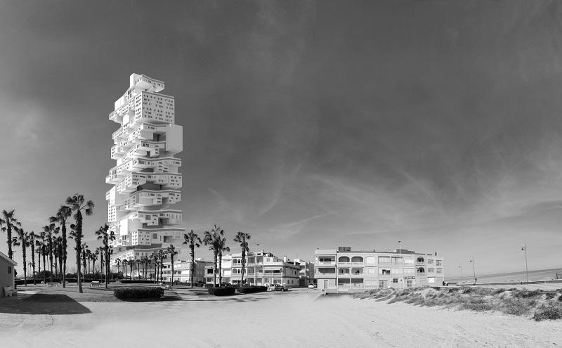 """طراح اسپانیایی خاویر دی سالازار در این رقابت معماری مقام سوم را به خود اختصاص داده است. برج مفهومی او """"ایسپریال 3500 """" نام دارد"""