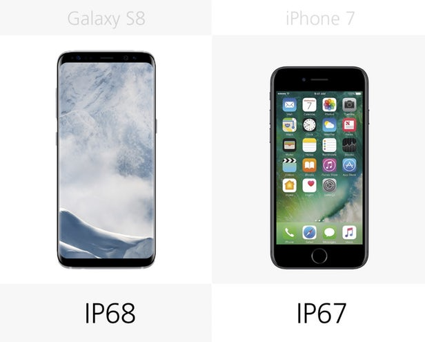 هر دو دستگاه می توانند مقاومت زیادی را در برابر آب به نمایش بگذارند؛ البته فراموش نکنید که امتیاز IP سامسونگ بالاتر است.