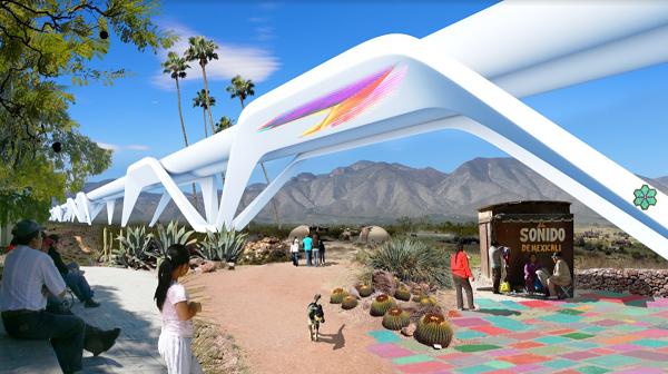 در این شبکه مزرعه خورشیدی هم گنجانده خواهد شد که نیروی هاپیرلوپ را تامین خواهد کرد
