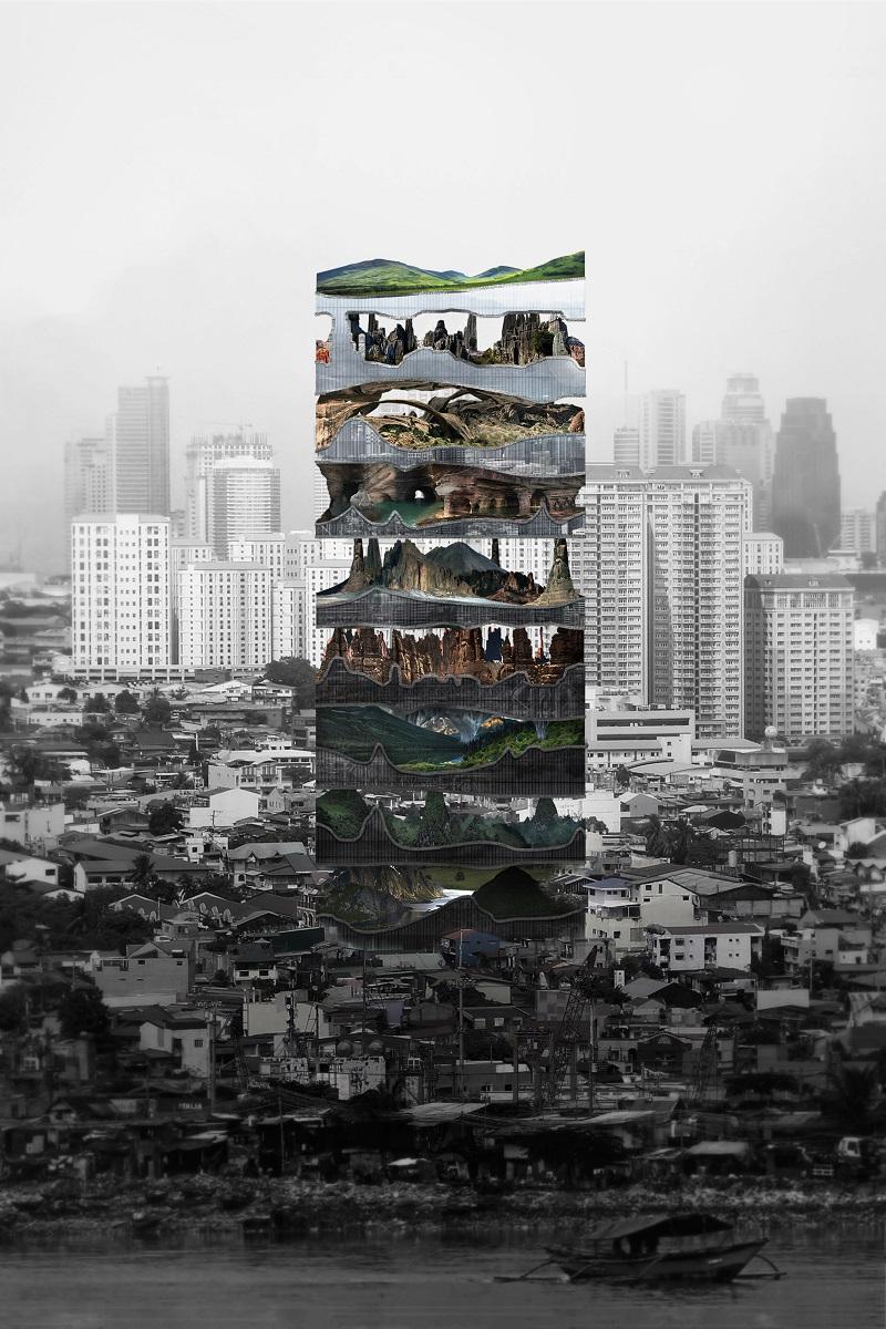 برنده مقام دوم رقابت آسمانخراش ایوولو یک کارخانه عمودی در کلان شهری است که توسط معماران آمریکایی تیانشو لیو و لینگشن زی طراحی شده است