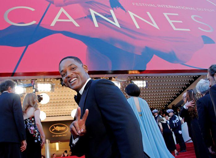 ویل اسمیت به عنوان یکی از اعضای هیئت داوران، در فرش قرمز برای افتتاح فیلم ارواح اسماعیل