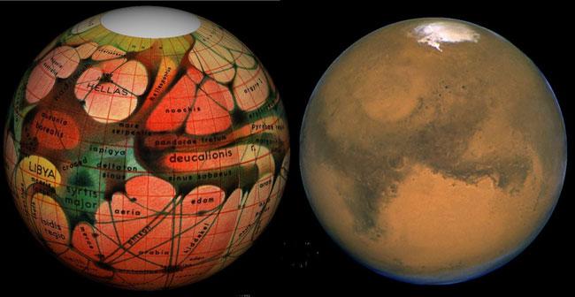 در مریخ کانالهایی وجود دارند