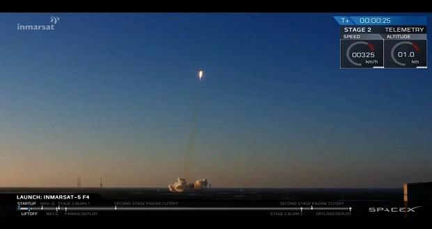 تماشا کنید: اسپیس ایکس ماهواره فوق سنگین ارتباطی را به مدار زمین فرستاد