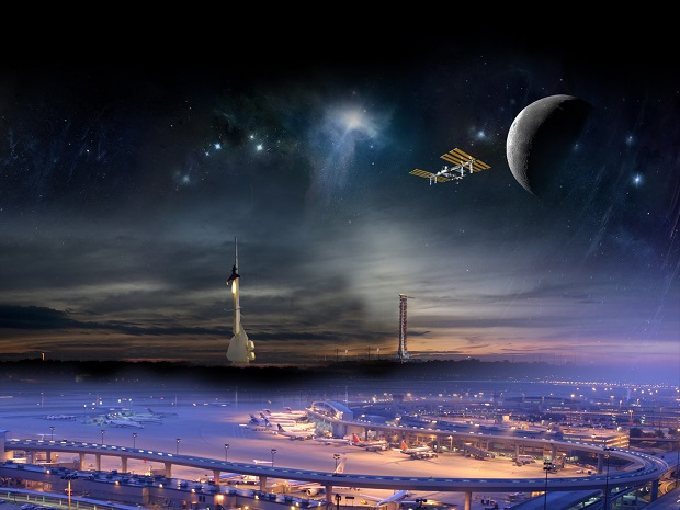 """آلدرین: """"ما به اشغال مریخ با فضانوردان بینالمللی ادامه خواهیم داد و این نیاز به تعهد رئیسجمهور دارد. باور دارم که این ملت قادر خواهد بود، طی دو دهه فضانوردان بینالمللی را به مریخ برساند، البته نه برای بازدید از سیاره سرخ و بازگشت، بلکه برای اشغال آن"""""""