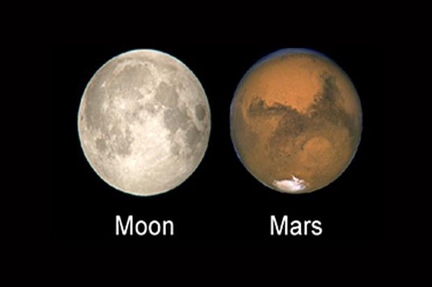 مریخ هم اندازه ماه است