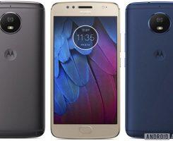 گوشی موتو جی 5 اس در یک بدنه فلزی و سه رنگ مختلف خودنمایی کرد