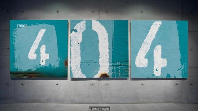 پیغام خطای 404 هنگامی نشان داده میشود که منبع مورد نظر در اینترنت پیدا نشود، اما قطع اینترنت غیرقابلتصور است. اکنون بیش از 3.2 میلیارد نفر در جهان-حدود نیمی از جمعیت جهان- متصل به اینترنت هستند و این میزان با نرخ تقریبا هر ده نفر در ثانیه افزایش مییابد