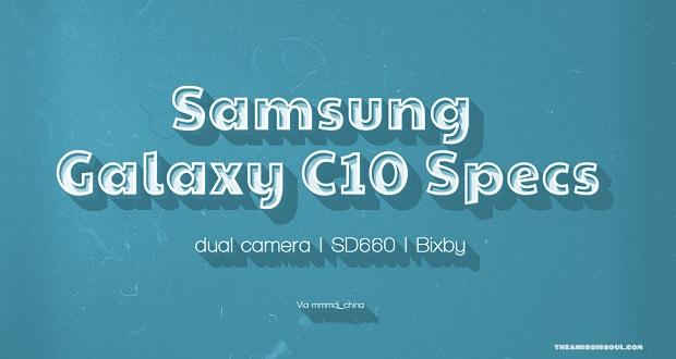 سامسونگ گلکسی سی 10 اولین گوشی هوشمند سامسونگ با دوربین دوگانه