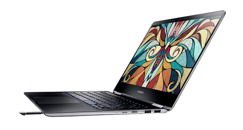 نوت بوک 9 پرو سامسونگ اولین دستگاه غیر تبلت این کمپانی است که از اس پن و تمامی ویژگی ها و عملکردهای آن، بهره می برد. میزان حساسیت فشار نوت بوک 9 پرو 4000 واحد بوده و نوک قلم استایلوس آن نیز 0.7 میلی متر است؛ درست همانند قلم جدید سرفیس پن مایکروسافت که در سرفیس پرو جدید خود آن را معرفی کرد.