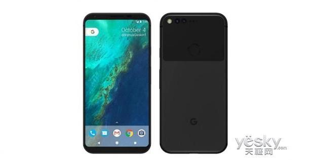 تصاویری از رندر گوشی گوگل پیکسل 2 با نسبت نمایشگر به بدنه بالاتر منتشر شد