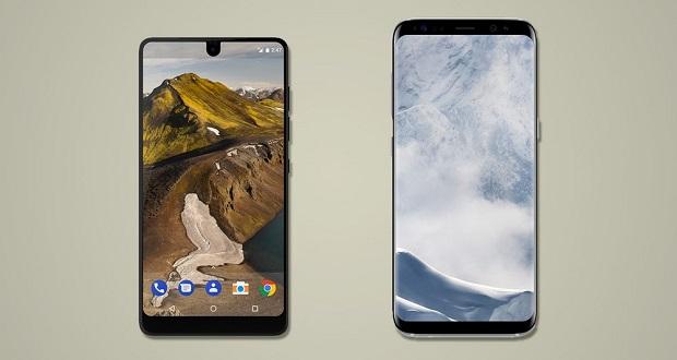 مقایسه اسنشال فون با گلکسی اس 8 و اس 8 پلاس