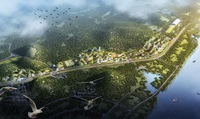 شهر جنگلی لیو ژو در امتداد رودخانه لیوجیانگ ساخته میشود و شامل دفاتر اداری، آپارتمانها، هتلها و مدارس با بیش از یک میلیون گیاه و 40 هزار درخت است. پروژه شهر جنگلی لیو ژو توسط استودیوی معماری استفانو بوئری آرکیتتی طراحی شده که به سبب فعالیتهای عمدهاش در معماری سبز شهرت دارد