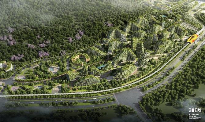 در شهر جنگلی لیو ژو، حدود 30 هزار نفر سکونت خواهند داشت که از طریق خط راهآهن پرسرعت تماما الکتریکی امکان دسترسی به شهر 3.8 میلیون نفری لیو ژو را خواهند داشت. ساخت این شهر جنگلی هماکنون آغاز شده و انتظار میرود، عملیات احداث آن تا سال 2020 به اتمام برسد