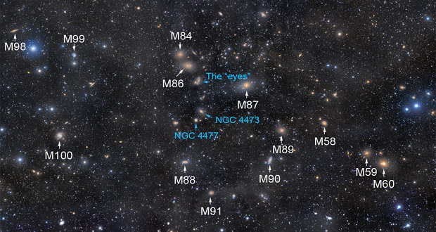 تصویر نجومی روز ناسا 3 تیر 96: زنجیره مارکاریان به مسیه 64