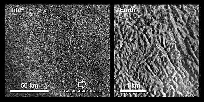 بر اساس این مدلهای شبیهسازی شده (با مقایسه با مدلهای مشابه زمین)، اگر میزان بارندگی تیتان را منطبق با الگوهای بارشی زمین قرار دهیم، چنین عوارض مارپیچی هزارتو مانندی میتوانستهاند، طی میلیونها سال تشکیل شده باشند