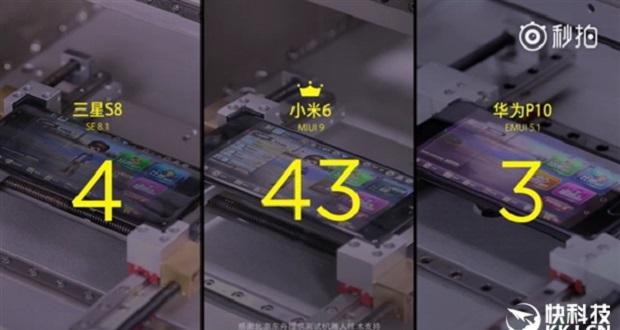 نتیجه حیرت انگیز تست سرعت شیائومی می ۶ با رابط کاربری MIUI 9