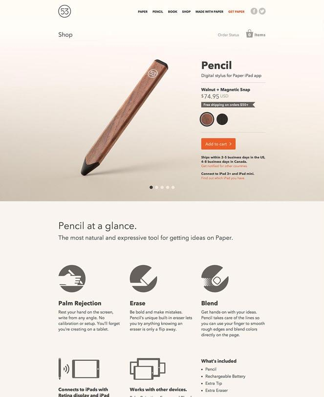 نمونه وبسایت طراحی شده با Shopify
