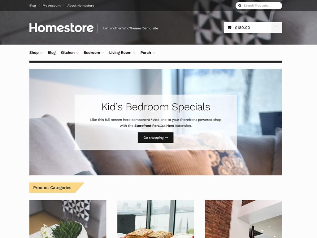 نمونه وبسایت طراحی شده با WooCommerce