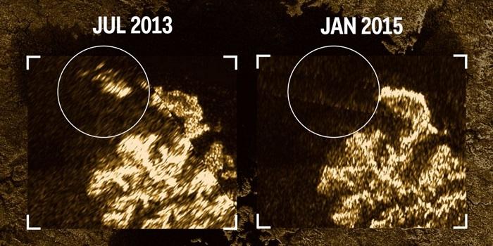 کاوشگر کاسینی در سال ۲۰۱۳ طی یکی از مانورهای گذر نزدیک خود، موفق به مشاهده جزیره جادویی در یکی از دریاهای تیتان شد