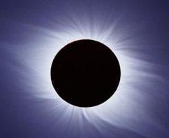 شکل هاله خورشید در کسوف 30مرداد؛ خورشیدگرفتگی