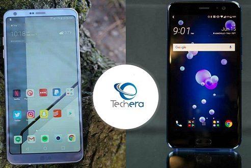 مقایسه گوشی ال جی جی 6 با اچ تی سی یو 11