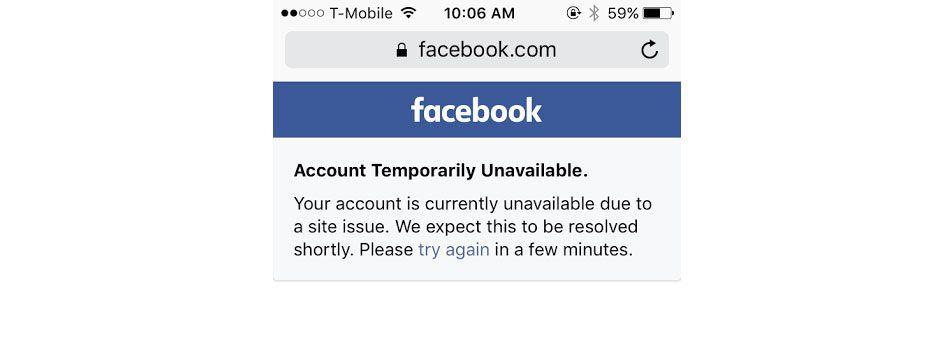 """""""حساب کاربری شما به دلیل مشکلات سایت در حال حاضر در دسترس نیست؛ این مشکل به زودی برطرف خواهد شد. لطفا چند دقیقه دیگر امتحان کنید."""""""