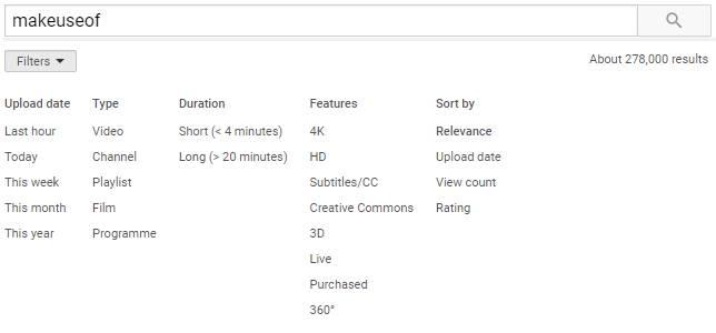 جستجوی پیشرفته یوتیوب