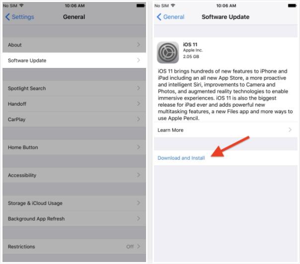 اگر آی او اس 11 در دسترس گوشی آیفون شما باشد، پس مستقیما از طریق همان دستگاه می توانید نسخه جدید را دریافت کنید.