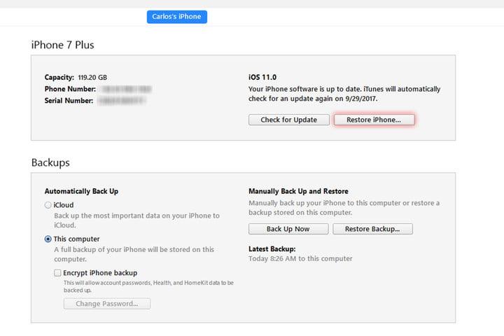 پنجره ای باز می شود که در آن از شما می خواهد فایل iOS IPSW را مشخص کنید. در اینجا باید فایلی که در مرحله دوم دانلود کرده اید را انتخاب کنید.