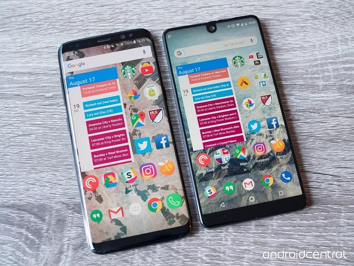 مقایسه اسنشال فون با گلکسی اس 8 سامسونگ