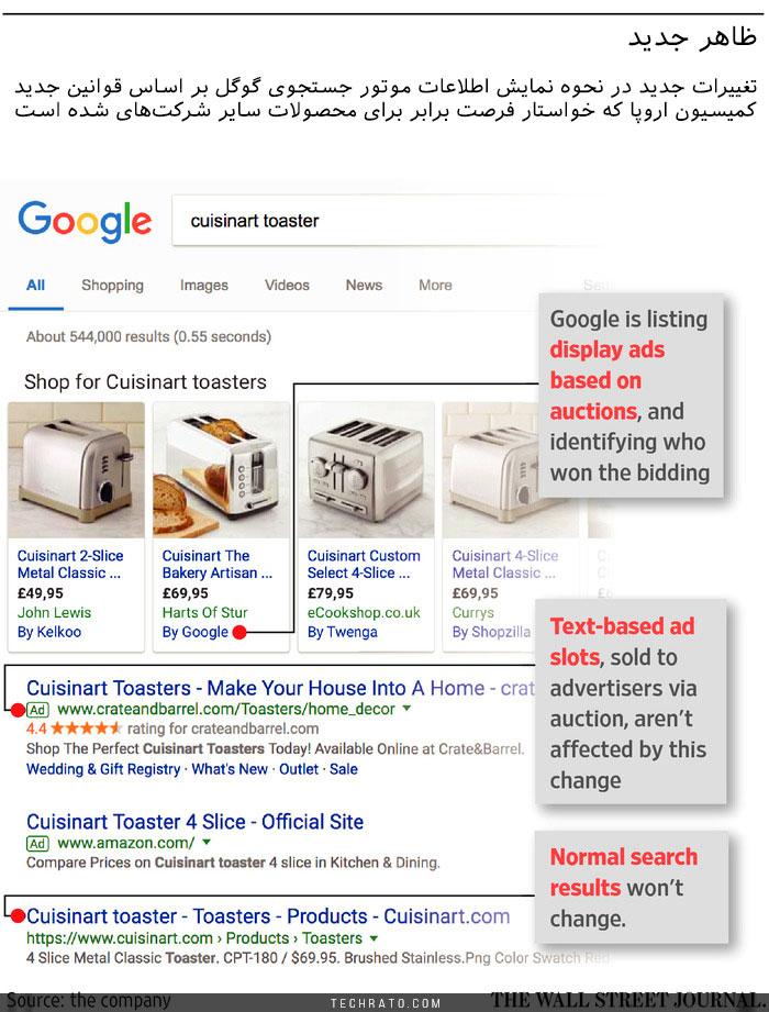تغییرات موتور جستجوی گوگل