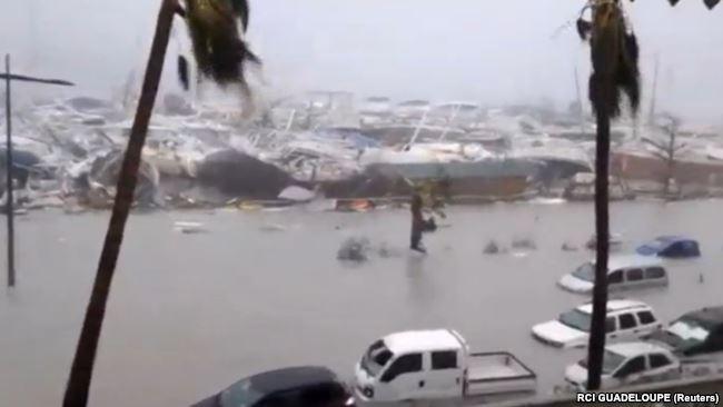 سیل ناشی از طوفان ایرما در منطقه سن مارتین