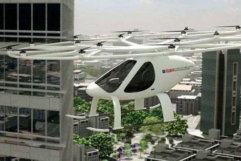 تستهای اولیه تاکسی پرنده خودران در دبی آغاز شد [تماشا کنید]