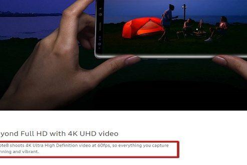 آیا امکان ضبط ویدیوی ۴K با سرعت ۶۰ فریم بر ثانیه با گلکسی نوت ۸ فراهم خواهد شد؟