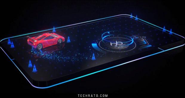 صفحه نمایش سه بعدی هولوگرافیک