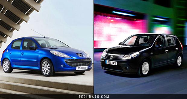مقایسه رنو ساندرو و پژو 207 دو خودروی با قیمت در حدود 50 میلیون تومان موجود در بازار
