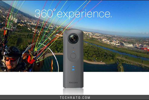 دوربین ۳۶۰ درجه تتا وی ریکو با کیفیت بالای ۴K معرفی شد